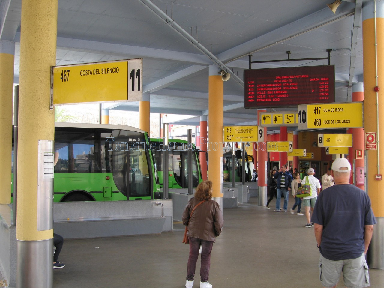 Tenerife bus in Costa Adeje bus station
