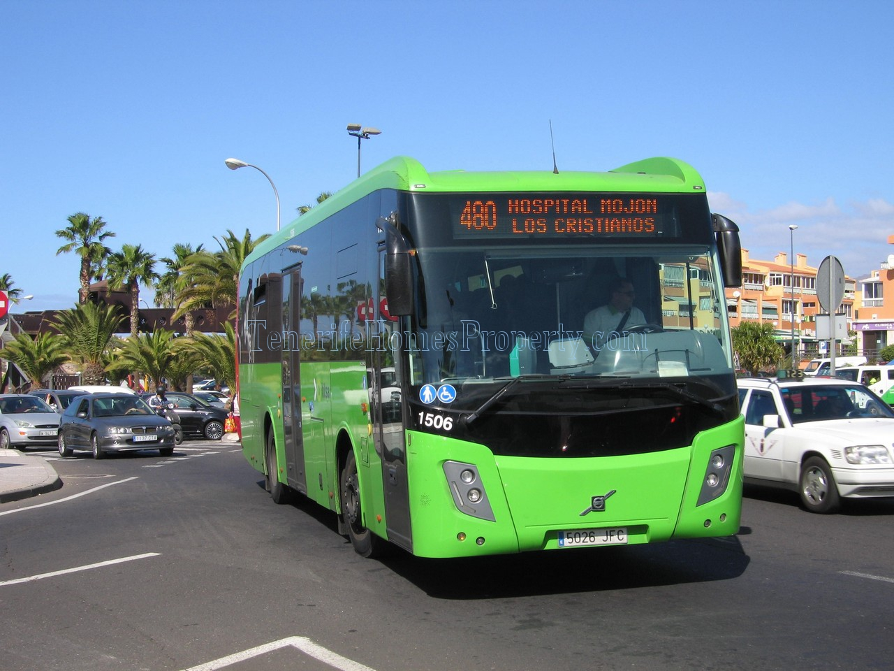 Tenerife bus in Los Cristianos bus station 480